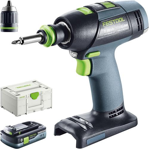 Festool T 18+3 18V Drill Driver (Naked) *PROMO* with 4Ah Battery