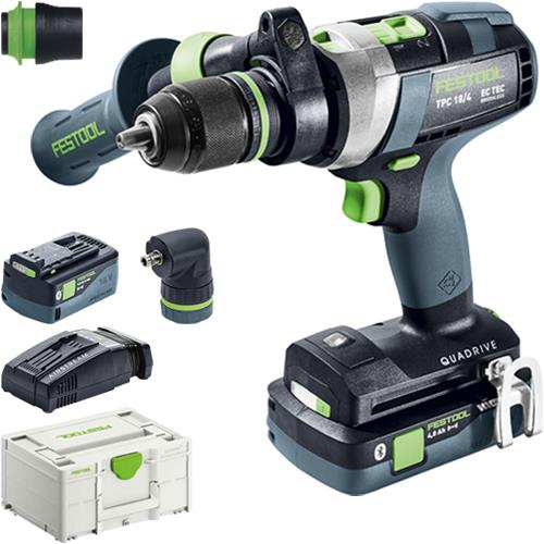 Festool TPC 18/4 18V Combi Drill Set (4Ah High-power & 5.2Ah)