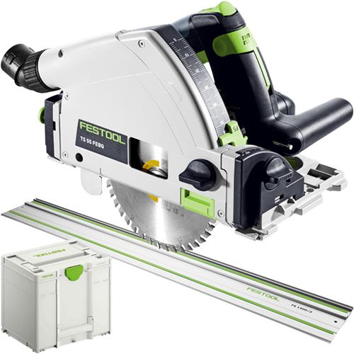 Festool TS 55 F 1200W 160mm Plunge Saw & Guide Rail