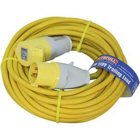 Faithfull 110v 16A Trailing Lead with a 14m x 2.5mm Cable
