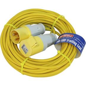 Faithfull 110v 16A Trailing Lead with a 14m x 1.5mm Cable