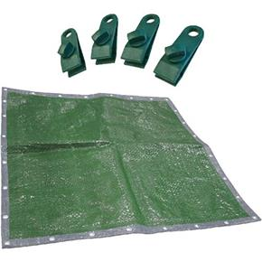 Faithfull Tarpaulin (5.4x3.6m) with 4x FREE Clips