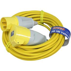 Faithfull 110v 32A Trailing Lead with a 14m x 2.5mm Cable