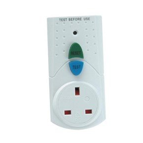 Faithfull White RCD Adaptor (Circuit Breaker)