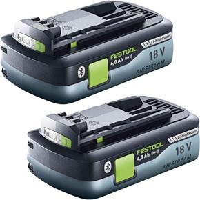 Festool 18V 4Ah Compact Bluetooth Li-HighPower Battery Twin Pack