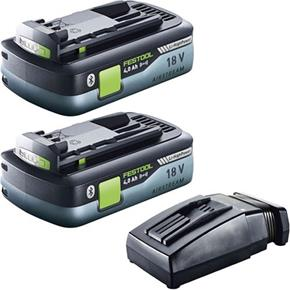 Festool 18V Battery Set: 2x 4Ah Li-HighPower & TCL6 Charger