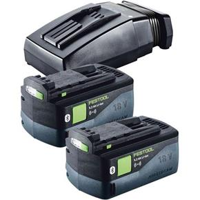 Festool 18V Bluetooth Battery Set (2x 5.2Ah BT, TCL6 Charger)