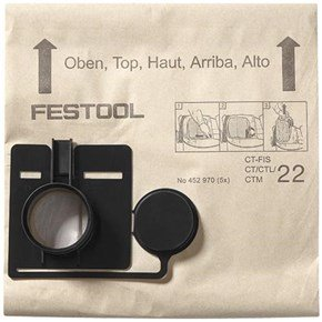 Festool Dust Bags for CT22 (5pk)