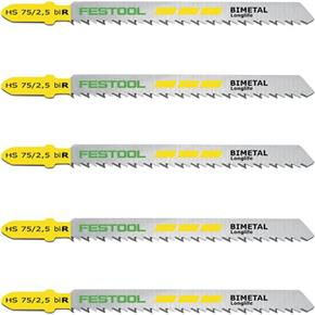 Festool 75mm Clean Cut Jigsaw Blades (5pk)