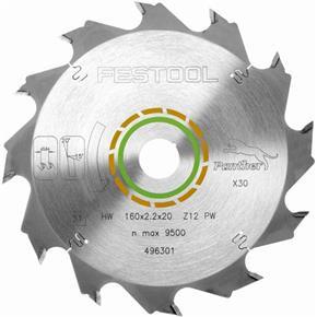 Festool 496301 160mm 12T TCT Blade (TS55, TSC55)