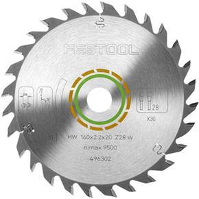 Festool TCT Sawblade 496302 160mm 28 Teeth