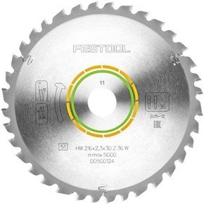 Festool TCT Sawblade 500124 216mm 36 Teeth