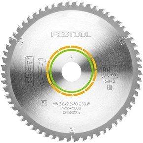 Festool TCT Sawblade 500125 216mm 60 Teeth