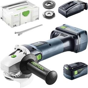 Festool AGC 18 18V 125mm Brushless Grinder (2x 5.2Ah)