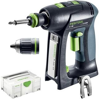 festool c 18 brushless 18v drill driver body only in systainer. Black Bedroom Furniture Sets. Home Design Ideas