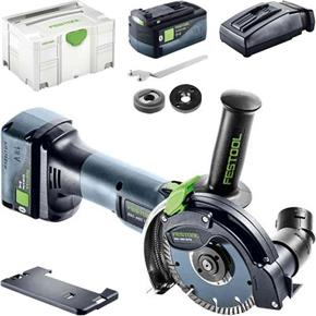 Festool DSC-AGC 18 FH 18V 125mm Diamond Grinder (2x 5.2Ah Bluetooth)