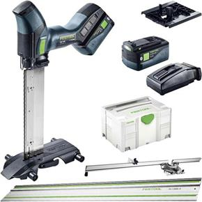 Festool ISC240 18V Insulation Saw SET (2x 5.2Ah Bluetooth, Guide Rail)