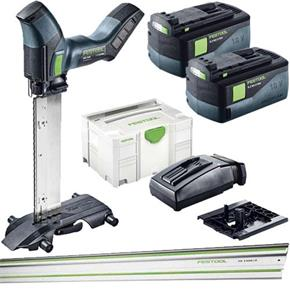 Festool ISC240 18V Insulation Saw SET (2x 5.2Ah, Guide Rail)