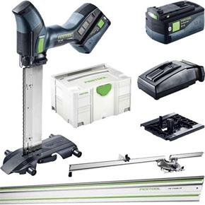 Festool ISC240 18V Insulating-Material Saw SET (2x 5.2Ah, Guide Rail)