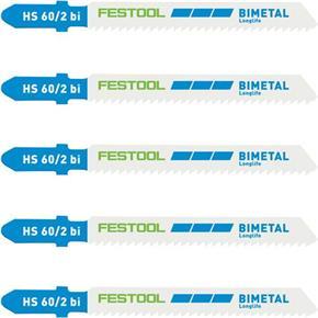 Festool 60mm Jigsaw Blades for Metal (5pk)