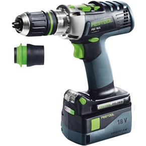 Festool QUADRIVE PDC 18v Combi Drill (1x 5.2Ah Battery)