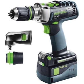 Festool QUADRIVE PDC 18V Combi Drill Set (5.2Ah)