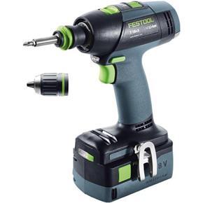 Festool T18+3 Li 18V Drill Driver (5.2Ah)