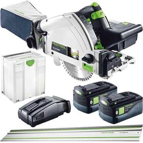 Festool TSC 55 18V 160mm Plunge Saw + 1.4m Rail (2x 5.2Ah Bluetooth)