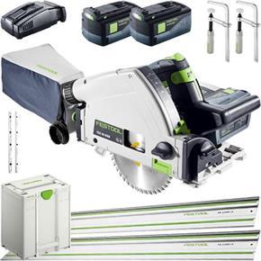 Festool TSC55K 18V Fast-cut Plunge Saw Kit Deal (2x 6.2Ah)