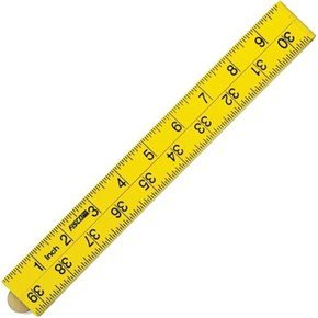 Fisco XFY1ME Yellow ABS Nylon Rule 1m