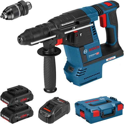 Bosch GBH18V-26F 18V SDS Drill (Chuck, 2x 4Ah ProCore)