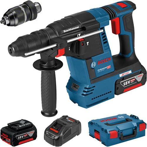bosch gbh 18v 26 f 18v brushless sds drill chuck 2x 6ah l boxx. Black Bedroom Furniture Sets. Home Design Ideas