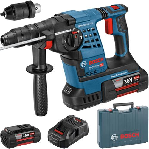 bosch gbh 36 vf li plus 36v sds hammer drill 2x 4 0ah qc chuck. Black Bedroom Furniture Sets. Home Design Ideas