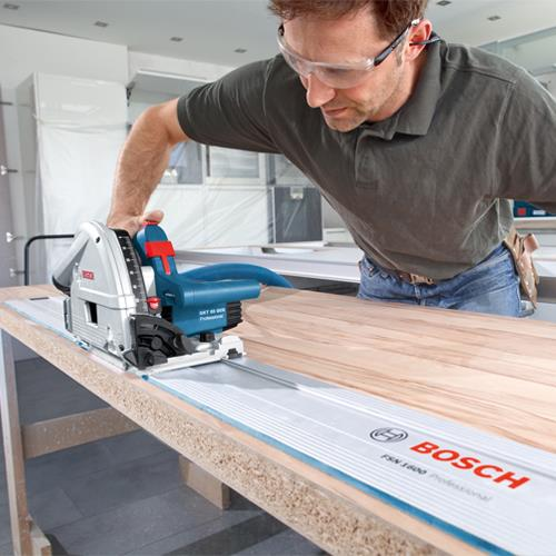 Bosch GKT55GCE Plunge Saw + Rail Kit