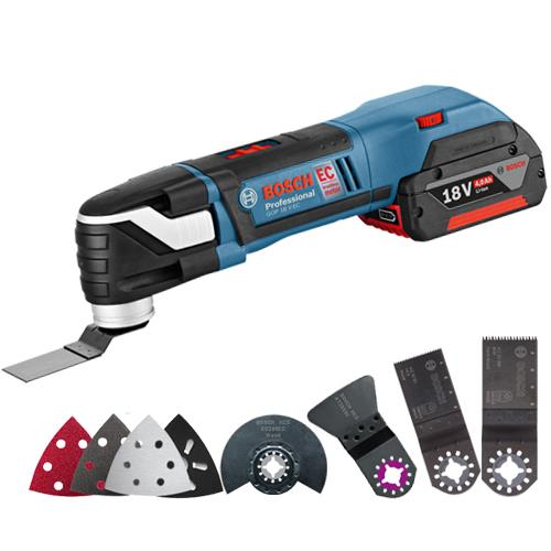 bosch gop 18 v ec cordless brushless 18v multi tool kit 2x 4 0ah. Black Bedroom Furniture Sets. Home Design Ideas