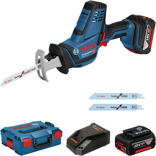 bosch gsa 18 v li c 18v cordless compact reciprocating saw 2x 4 0ah. Black Bedroom Furniture Sets. Home Design Ideas