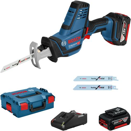 c50069460b7 Bosch GSA 18 V-Li C Compact Cordless 18v Reciprocating Saw (2x 5.0Ah  Batteries & L-Boxx) 06016A5071