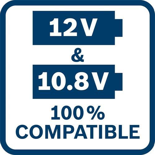 Bosch 12V GSB Combi & GDR Impact Driver Set (2x 2Ah)