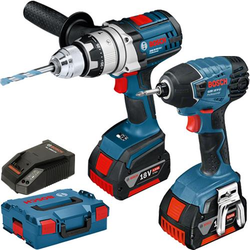 Bosch GSBGDR 18V Robust Series Twin Pack (2x 4Ah)