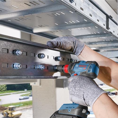 Bosch 18V GSB 18V-55 Combi Drill & GDX 18V-200 Impact Gun (2x 4Ah)