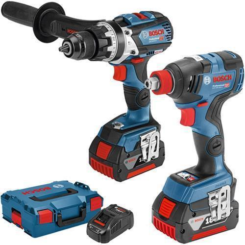 Bosch GSB18V-85C + GDX18V-200C 18V Robust Brushless Set (2x 6Ah)