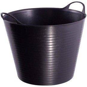 38L Flexible Builders Bucket (Black)