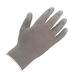 Grey on Grey PU Palm-Coated Gloves (12 Pack)
