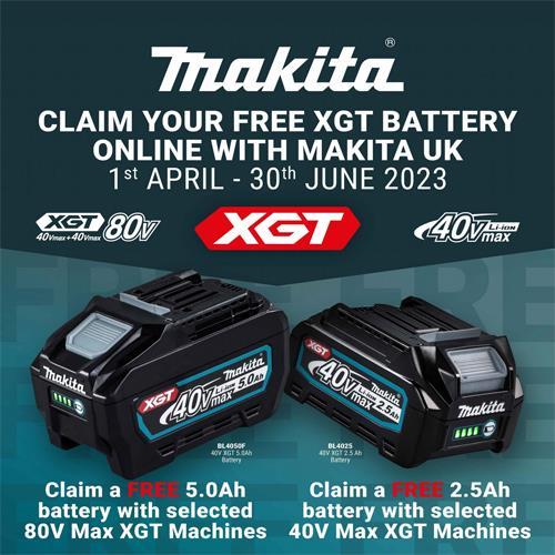 Makita LS002G XGT 40V 216mm Sliding Compound Mitre Saw (2x 2.5Ah)