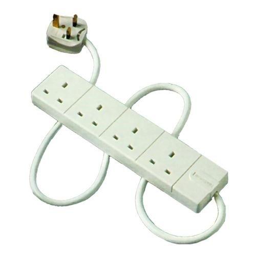 Masterplug 2m 4-Gang Extension (White)