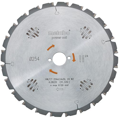 Metabo Circular Saw Blade for Wood 216mm x 30mm x 24T