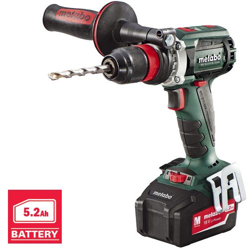 metabo bs 18 ltx bl quick impuls brushless 18v drill driver 2x 5 2ah. Black Bedroom Furniture Sets. Home Design Ideas