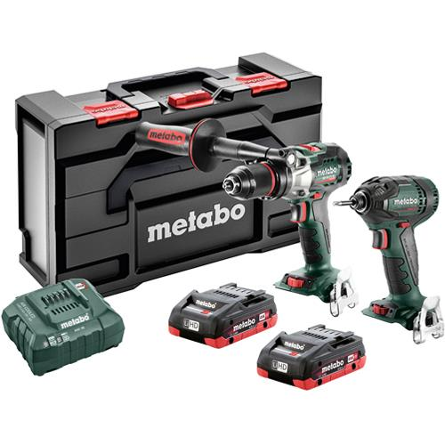 Metabo 18V Brushless Combi Drill & Impact Driver Set (2x 4Ah LiHD)