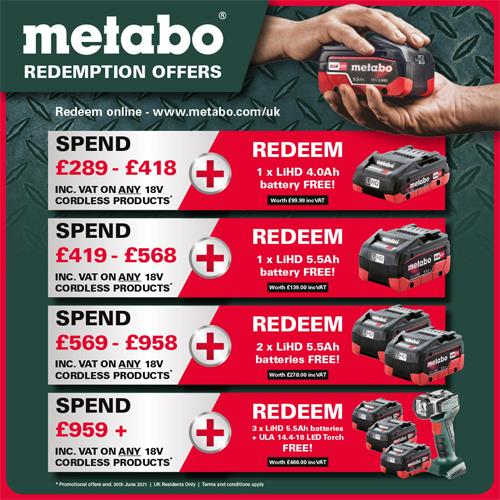 Metabo 18V Brushless Set: Combi Drill + Impact Driver (2x 4Ah LiHD)