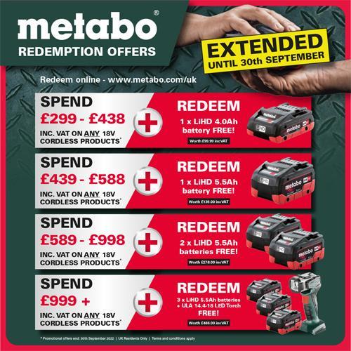 Metabo KGS 18 LTX 216 18V Single Bevel Sliding Mitre Saw (2x 8Ah LiHD)